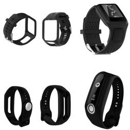 Black Silicone Band Strap Bracelet Wristband Replacement for