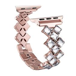 Secbolt Bling Bands for Apple Watch Band 38mm Luxury Stainle