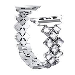 Secbolt Bling Bands Compatible Apple Watch Band 42mm 44mm Lu