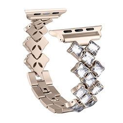 Secbolt Bling Bands for Apple Watch Band 42mm Luxury Stainle