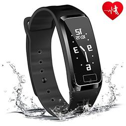 Blood Pressure Fitness Tracker - Homestec S4Plus Smart Watch