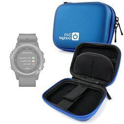 DURAGADGET Premium Quality Blue Hard EVA Shell Case with Car