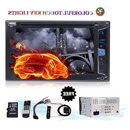 6.2 Inch HD Bluetooth Touch Screen Car Stereo Radio Double D