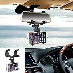 Car Rearview Mirror Hanging Holder Mount Stand Cradle Univer
