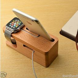 Carbonized Bamboo Beech USB Dock Charging Station Stand for