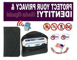 Cell Phone GPS RFID Signal Blocker Faraday Wallet Prevent /