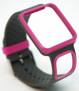 TomTom Comfort Strap Slim PINK/GRAY Runner Multi-Sport GPS w