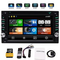 EinCar Double 2 Din GPS Car Stereo DVD CD Player with 6.2 In