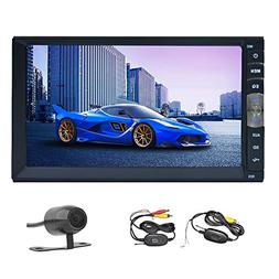 Double Din Bluetooth Car Stereo 7 inch Capacitive Touchscree