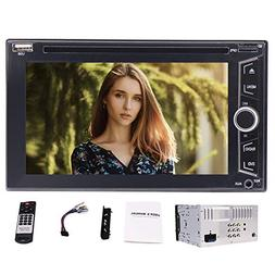 Double Din Car Stereo AM FM RDS Radio 6.2 inch Capacitive To