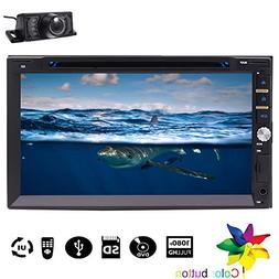 7-inch Double DIN In Dash Car DVD Player Car Audio Stereo Re