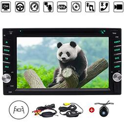 Double Din Universal Car Radio Stereo In Dash 6.2-inch HD Mu