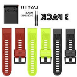 H.J.G SUPPLIES 26mm Easy Fit Silicone Replacement Watch Band