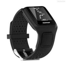 F5F2 Black Bracelet for TomTom GPS Waterproof Watch Band