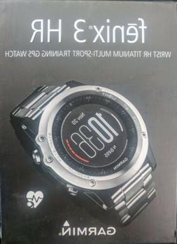 Garmin Fenix 3 HR Titanium Multi-Sport Training GPS Watch Br