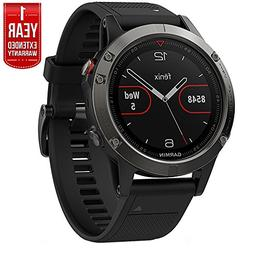 Garmin Fenix 5 Multisport 47mm GPS Watch - Slate Gray with B
