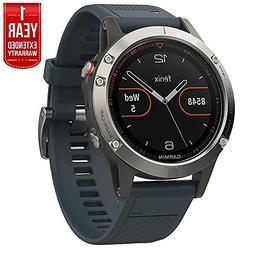 Garmin Fenix 5 Multisport 47mm GPS Watch - Silver with Grani
