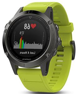Garmin Fenix 5 Slate Gray with Amp Yellow Band Premium Sport