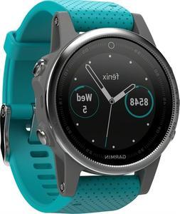Garmin Fenix 5S Multi-Sport GPS Watch SILVER/TURQUOISE