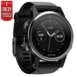 Garmin Fenix 5S Multisport 42mm GPS Watch - Silver with Blac