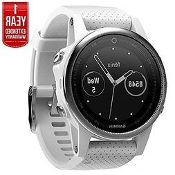 Garmin Fenix 5S Multisport 42mm GPS Watch - White with Carra