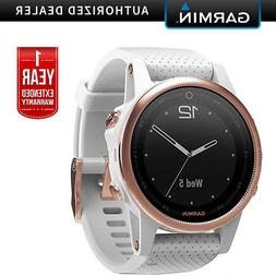 Garmin Fenix 5S Multisport GPS Watch Rose Goldtone Band +1Ye