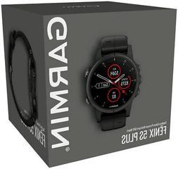 Garmin Fenix 5S Plus Sapphire Multisport GPS Smart Watch Bla