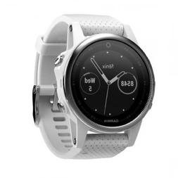 Garmin Fenix 5S Wrist HR Sports Watch Silver with Carrara Wh