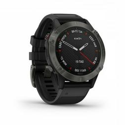 Garmin fenix 6 Sapphire GPS Watch Carbon Gray DLC with Black