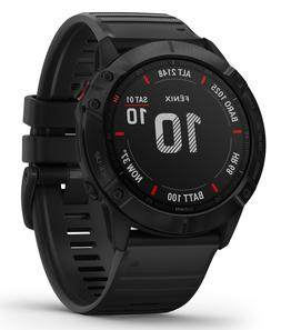Garmin fenix 6X GPS Multisport Watch Pro - Black w/ Black Ba