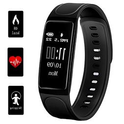 Teetox Fitness Tracker 0.96Inch OLED Heart Rate Monitor Smar