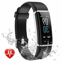 Fitness Tracker, Color Screen Activity Tracker with Heart Ra