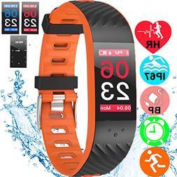 Fitness Tracker Heart Rate Blood Pressure Sleep Monitor IP67