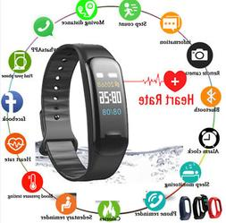 Fitness Tracker Heart Rate Monitor Watch Color Screen IP68 W
