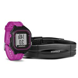 Garmin Forerunner 25 Bundle with Heart Rate Monitor, Small -