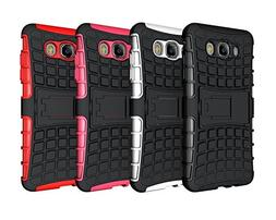 Galaxy J7 Stand Case, HLCT Rugged Shock Proof Dual-Layer PC