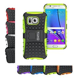Galaxy S7 Stand Case, HLCT Rugged Shock-Proof Dual Layer PC