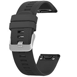 SKYLET Garmin Fenix 5 Bands, Quick Fit Silicone Replacement