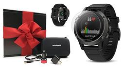Garmin fenix 5  GIFT BOX Bundle | Includes Glass Screen Prot