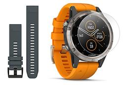 Garmin fenix 5 Plus+ Sapphire Bundle with Extra Quickfit Ban