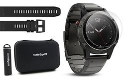 Garmin fenix 5 Sapphire  POWER BUNDLE | Includes Extra Band