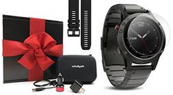 Garmin fenix 5 Sapphire  GIFT BOX | Bundle includes Extra Si