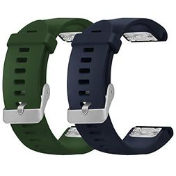 SKYLET Garmin Fenix 5S Bands, 2 Pack Quick Fit Silicone Repl