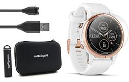 Garmin fenix 5S Plus+ Sapphire GPS Watch Bundle | +Screen Pr