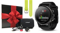 Garmin fenix 5S Sapphire  GIFT BOX Bundle | Includes Extra B