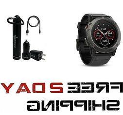 Garmin Fenix 5X Sapphire Multisport GPS Watch with Preloaded