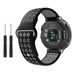 Garmin Forerunner 235 Watch Band, MoKo Soft Silicone Replace