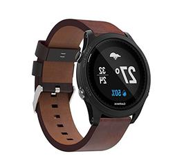 MoreToys Garmin Forerunner 935 Watch Band, Leather Quick Fit