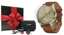Garmin vivomove HR Premium  Hybrid Smartwatch Gift Box Bundl