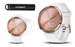 Garmin vivomove HR Sport  Hybrid Smartwatch   Bundle Include